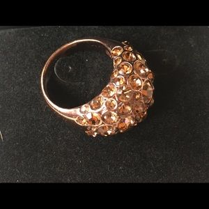 Jewelry - Fossil brand Glass stone and metal ring
